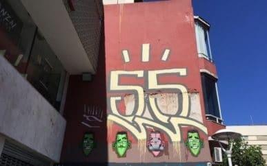 גרפיטי על הקיר